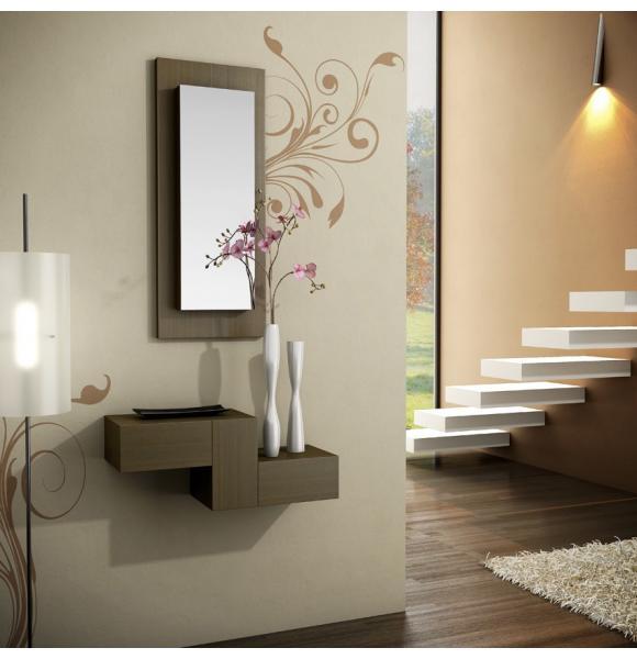 Consola recibidor con marco espejo llavero - Muebles para hall ...