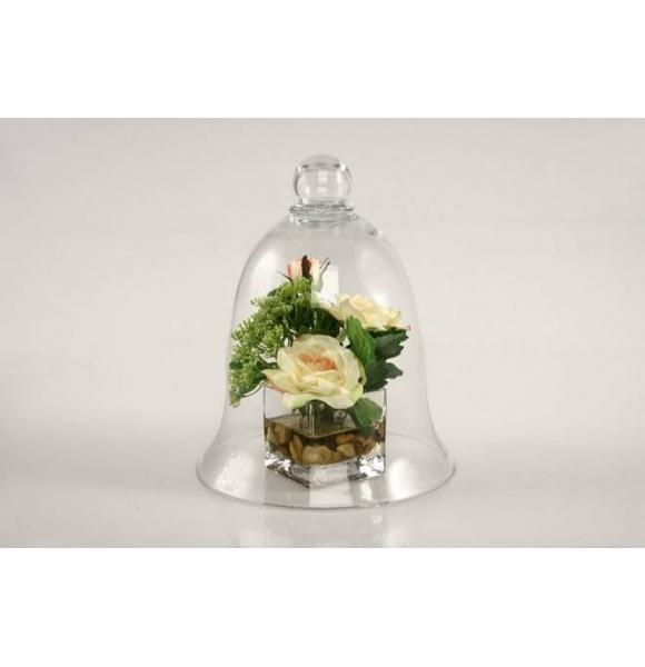 campana cristal peque a para decoracion o reposteria