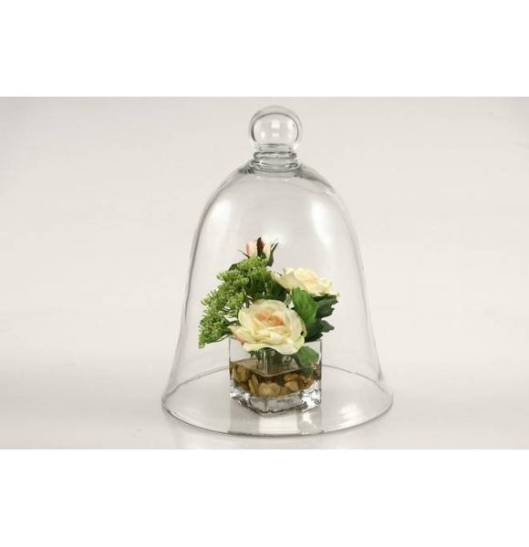 campana cristal grande para decoracion o reposteria