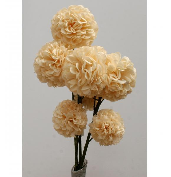 FLOR ARTIFICIAL BOLA COLOR CREMA