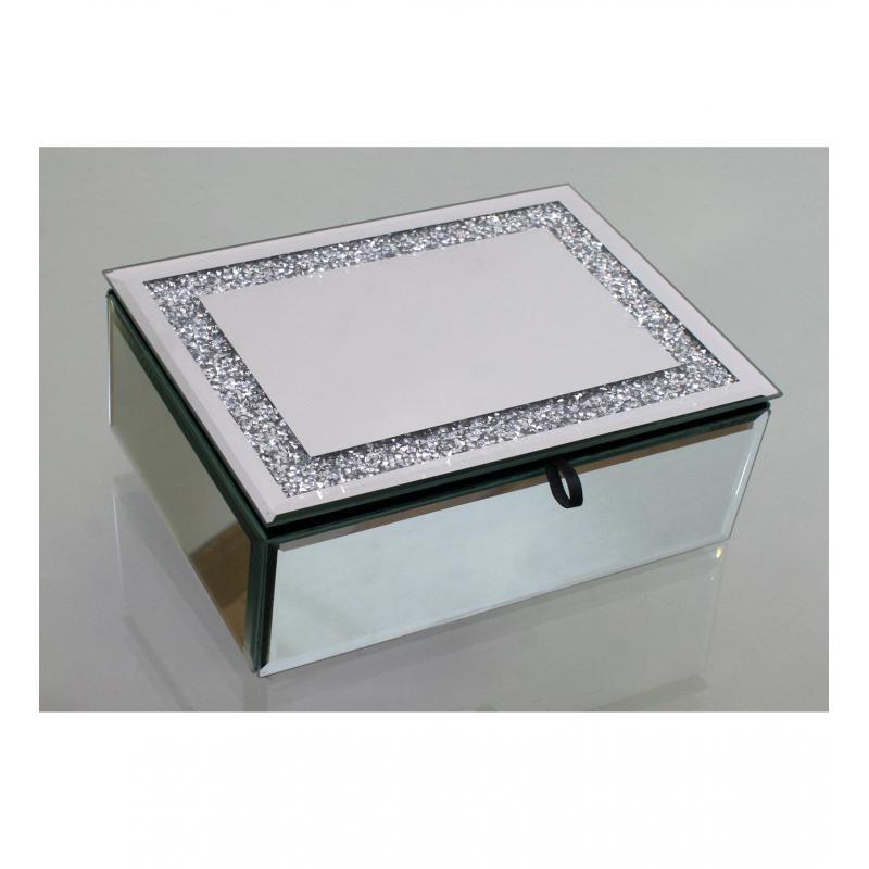Caja joyero purpurina espejo - Caja joyero ikea ...