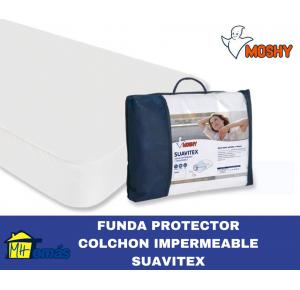 MOSHY FUNDA PROTECTOR COLCHON IMPERMEABLE SUAVITEX