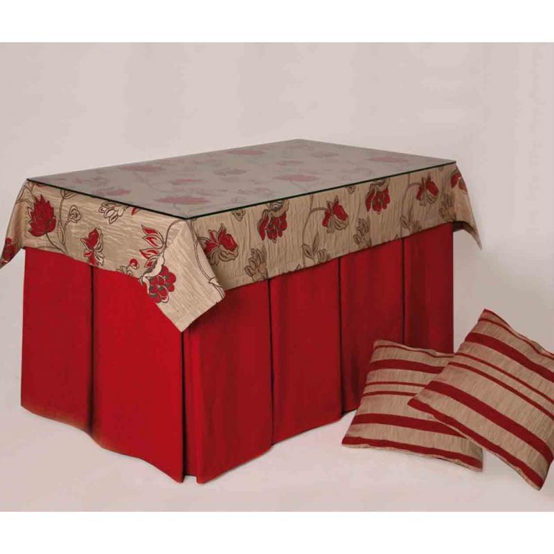 Mesa camilla rectangular pintada entera blanco 120x70 - Decorar mesa camilla ...