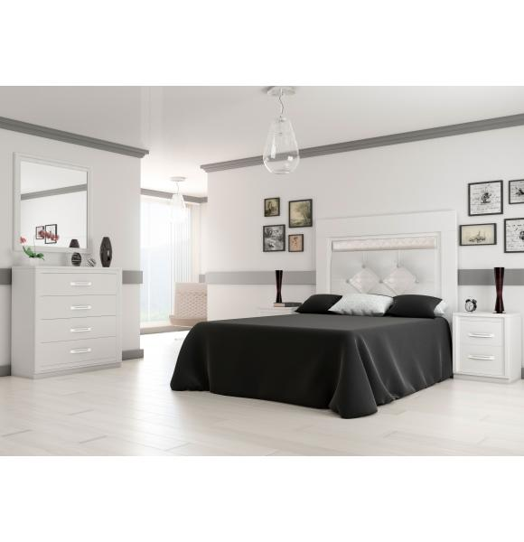 Dormitorio matrimonio en madera 150 cms for Dormitorio matrimonio madera
