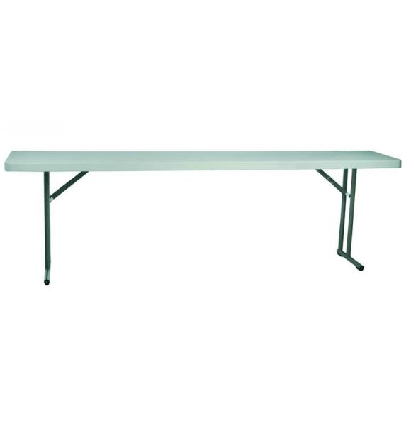 MESA PLEGABLE BACH 183X45X74 COLOR GRIS