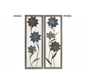 DECORACION DE PARED METAL CON FLORES