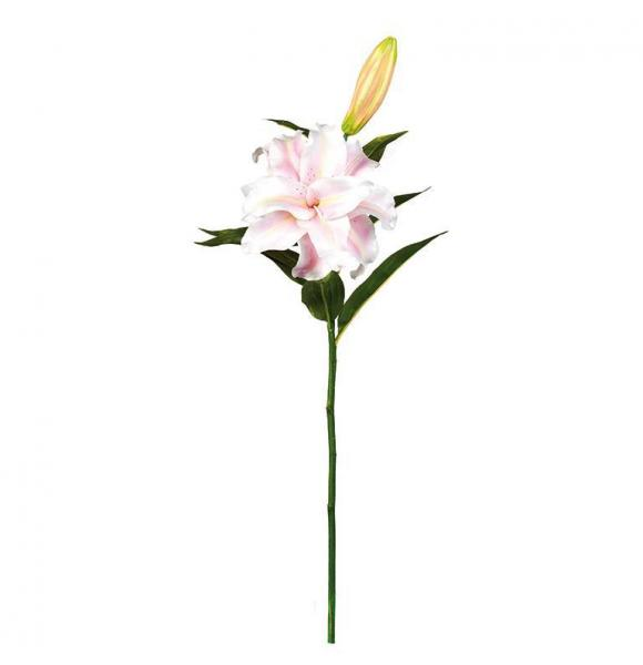 LIRIO ARTIFICIAL BLANCO ROSA