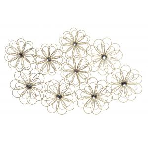 FLOR DORADA DECORACION PARED METAL