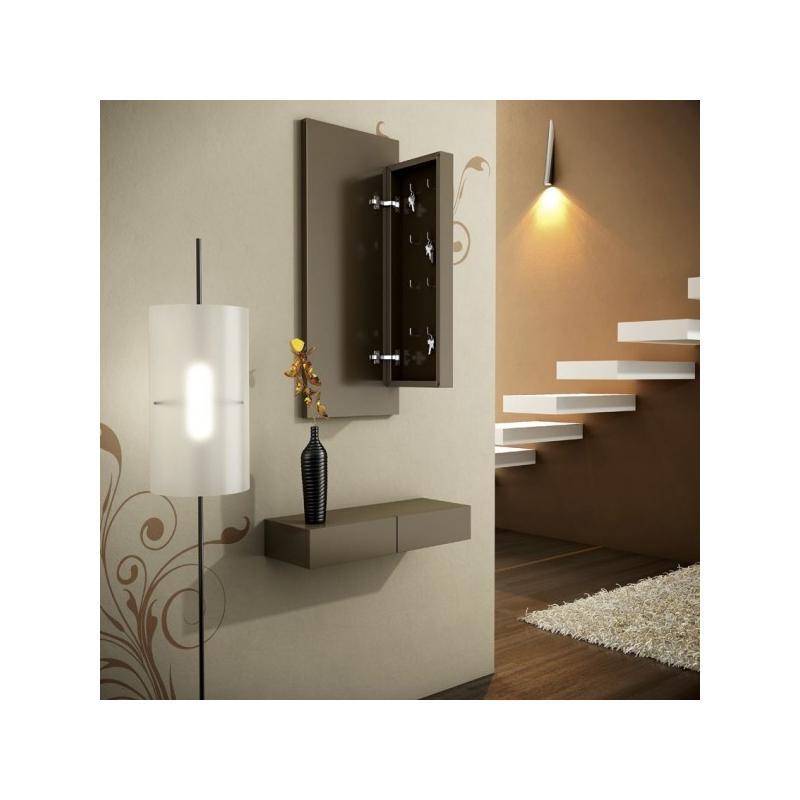 Consola recibidor con marco espejo llavero for Espejo grande recibidor