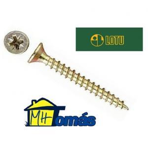 TORNILLO TIRAFONDO POZIDRIV BRICOMATADO 5,0 MM