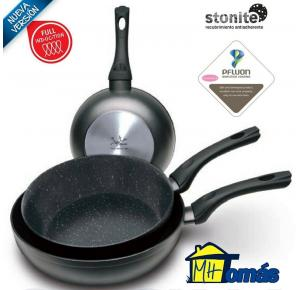 JUEGO 3 SARTENES WOK FULL INDUCTION MARSILI JATA 20-24-28 CMS