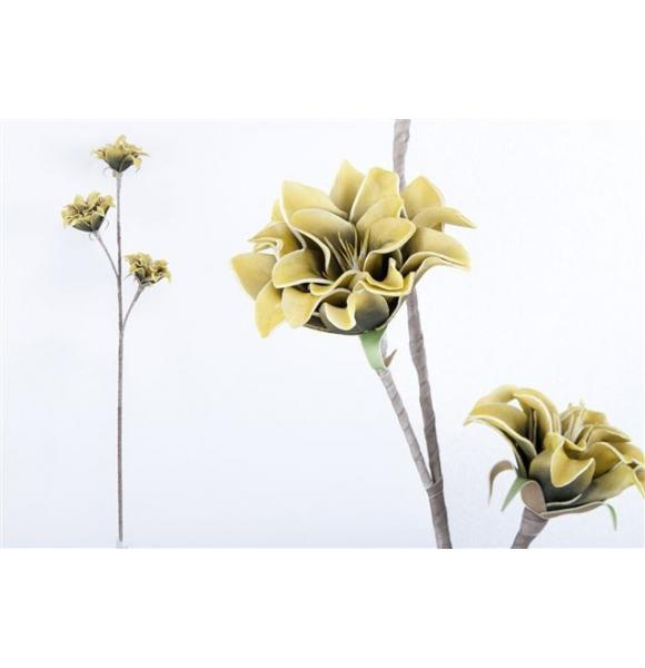 RAMA FLOR ARTIFICIAL FOAM AMARILLO